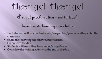 Taxation Without Representation in the Classroom