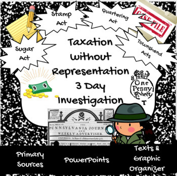 Taxation without Representation: Sugar, Stamp, Quartering & Townshend Acts!