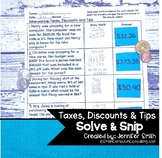 Taxes, Discounts and Tips Word Problems | Solve and Snip®