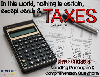 Taxes In Our Economy {Differentiated Reading Passages & Questions}