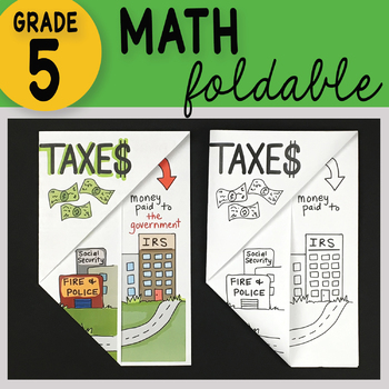 Doodle Fold - Taxes Math Interactive Notebook Foldable