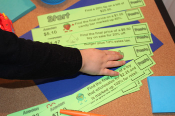 Taxes, Tips, and Discounts Paper Chain Activity