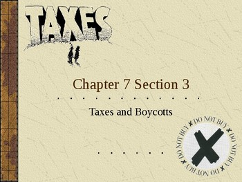 Taxes and Boycotts of Great Britian