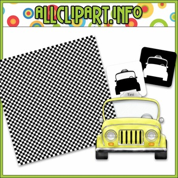 $1.00 BARGAIN BIN - Taxi Clip Art Mini