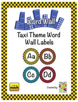 Taxi Theme Word Wall Labels