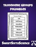 Taxonomic Groups Foldables