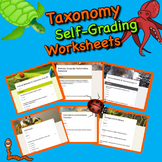 Taxonomy & Animal Behavior Worksheets, Quizzes, and Test