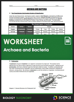 Taxonomy - Archaea and Bacteria