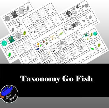 Taxonomy Biology Vocabulary Go Fish Game