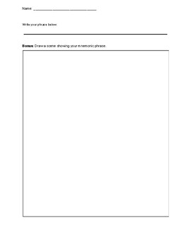 Taxonomy Classification Mnemonic Creator