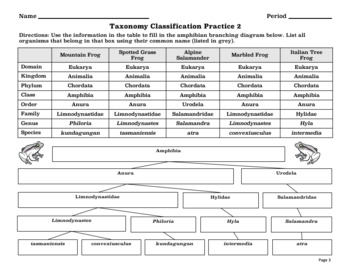 Taxonomy Classification Worksheet by Windham Science | TpT