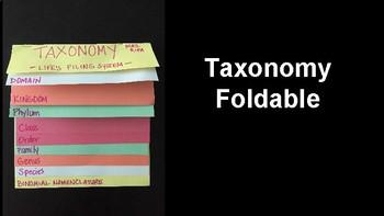 Taxonomy Foldable
