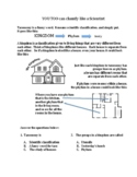 Taxonomy Kingdom-Phylum-Family Worksheet:  You Too Can Cla