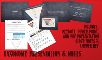Taxonomy: Presentation and Notes Bundle