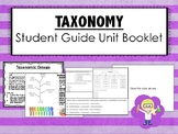 Taxonomy Science Unit Overview Student Booklet (STAAR questions)