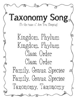 Taxonomy Song