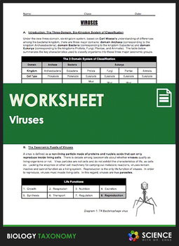 Taxonomy - Viruses - A Special Topic