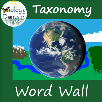 Taxonomy Word Wall Vocabulary Cards