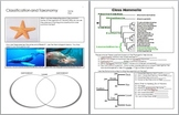 Taxonomy and Classification Unit Homework
