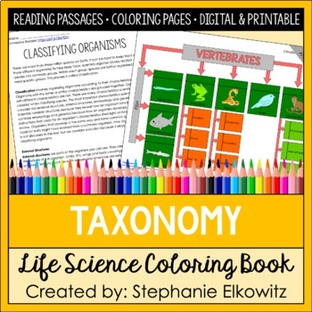 Taxonomy and Classification Coloring and Science Literacy Unit