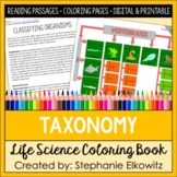 Taxonomy and Classification Coloring and Reading Unit