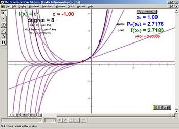 Taylor Polynomials: Geometer's Sketchpad (GSP) file