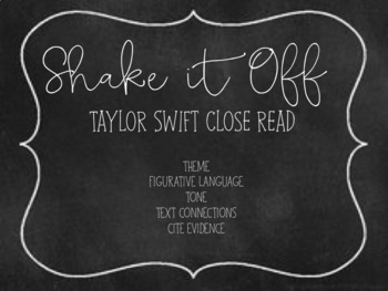 "Taylor Swift Close Read: ""Shake It Off"""