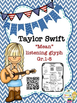 "Taylor Swift ""Mean"" listening glyph"