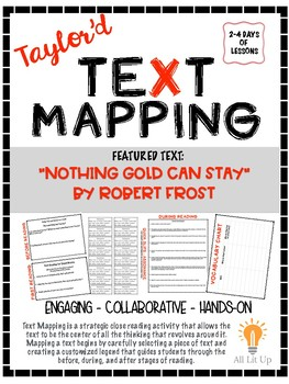 """Taylor'd Text Mapping """"Nothing Gold Can Stay"""""""