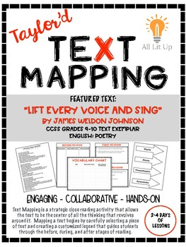 """Taylor'd Text Mapping """"Lift Every Voice and Sing"""""""