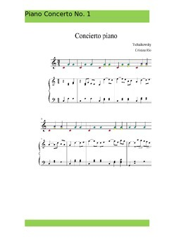 Boomwhackers-Tchaikovsky Piano Concerto No.1 ,piano score and easy
