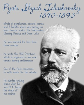 Tchaikovsky printable poster