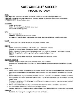 Tchoukball and Satryan Ball Unit Notes and Quiz
