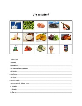 Te Gusta Speaking Activity with Gustar