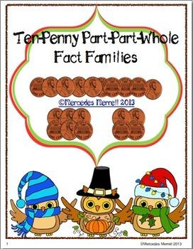 Ten-Penny Part-Part-Whole Fact Families