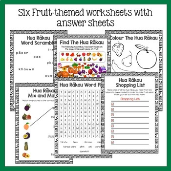 Te Reo Fruit and Vegetables Multi-purpose Flash Cards and Activities