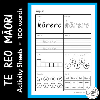 Te Reo Māori - 100 high frequency words - Activity Sheets
