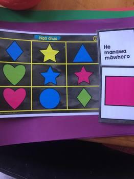 Te Reo Māori Bingo Shapes
