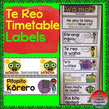 Te Reo Māori: Classroom Timetable Labels