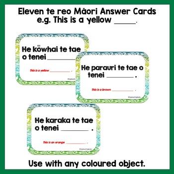 Te Reo Māori Colours - Ngā Tae - Multi-purpose Flash Cards
