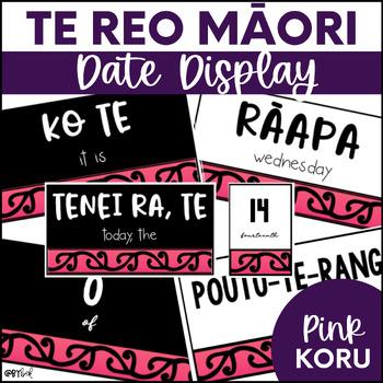 Te Reo Māori Date Display (Pink Koru)