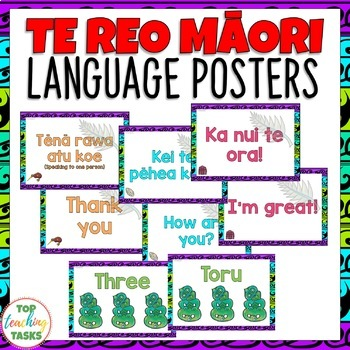 Te reo mori greetings introductions farewells classroom display posters m4hsunfo