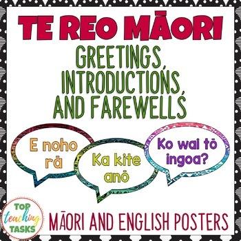 Te reo mori greetings introductions and farewells classroom display m4hsunfo