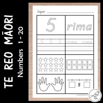 Te Reo Māori – Math Activity Sheets – Numbers 1-20