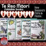Te Reo Māori: New Zealand Flora & Fauna Foldable Books BUNDLE#1