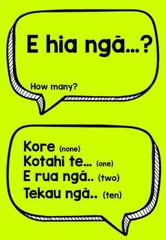 Te Reo Māori - Number Anchor Charts