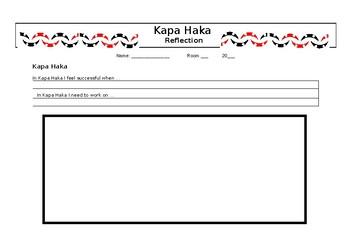 Te Reo Māori Reflection Sheet