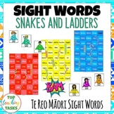 Te Reo Māori Sight Words Snakes and Ladders Game | Maori Language Week