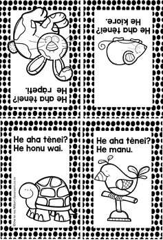 Te Reo Māori: Simple Everyday Phrases  Foldable Books BUNDLE #2