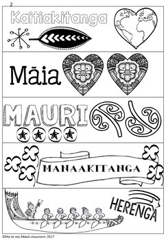 Te Reo Māori Values and Virtues Paper Chains